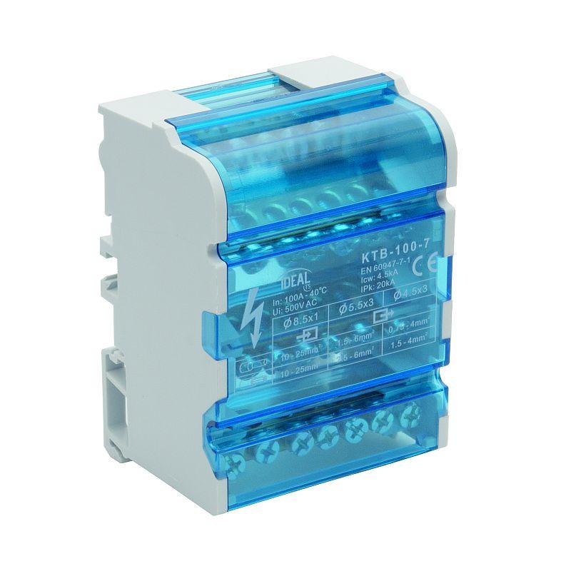 Blok łączeniowy zaciskowy czetoropolowy KTB-100-7