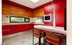 Kuchnia czerwono-drewniana