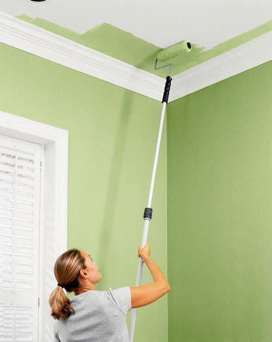 Gut Eine Wand Zu Streichen Ist Viel Leichter Als Ein Aufwendiger  Tapetenwechsel. Das Werkzeug, Das Eingesetzt Wird, Ist Einfach Zu Benutzen.