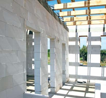 Ściany wewnętrzne z betonu komórkowego