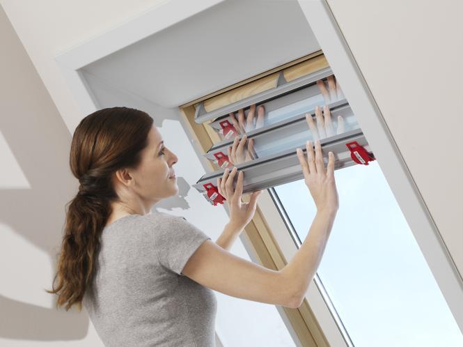 łatwy montaż rolet do okien dachowych