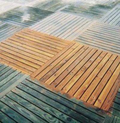 Naprawa drewnianego tarasu