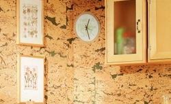 Pomysł na wykończenie ściany: korek