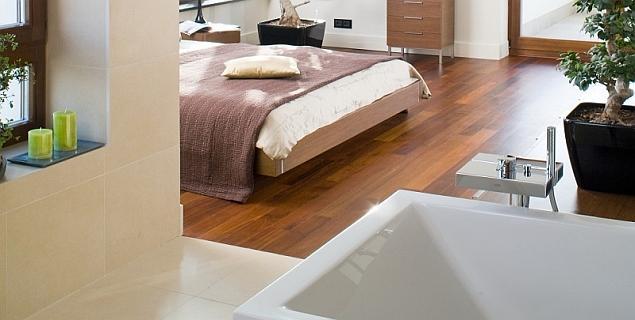 Elektryczne ogrzewanie podłogowe w sypialni i w łazience