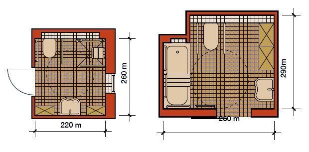 Łazienka dla osób niepełnosprawnych - przykładowy projekt