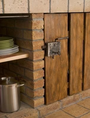 Kuchnia murowana z cegły